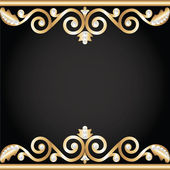 Gold jewelry frame — Stock Vector