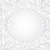 Pearl frame — Stock Vector
