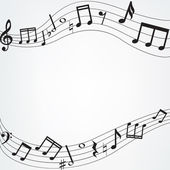 Music notes border — Stock Vector
