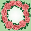 Stock Vector: Rose wreath