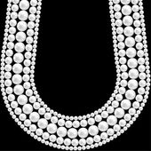 Pearl necklace — Vector de stock