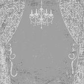 シャンデリアやカーテン — ストックベクタ