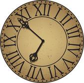 Orologio antico volto — Vettoriale Stock