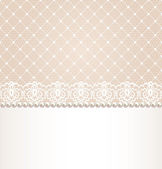 Lace floral border — Stock Vector