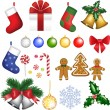Christmas set — Stock vektor #30128255