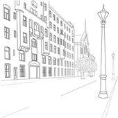 городская улица — Cтоковый вектор