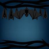 Bats hanging — Stock Vector