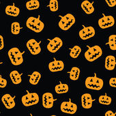 Seamless pumpkin pattern — Stock Vector