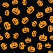 Stock Vector: Seamless pumpkin pattern
