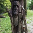 Wooden slavic idol — Stock Photo