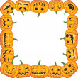 Stock Vector: Pumpkin frame