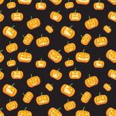 Fondo halloween con calabazas — Vector de stock