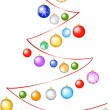 Cristmas ribbon tree — Vector de stock