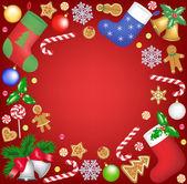 Marco de navidad — Vector de stock