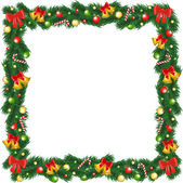 PrintChristmas garland frame — Stock Vector
