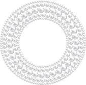 Pearl frame — Stock Vector
