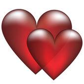 Two heart — Stockvektor