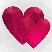 Triangle hearts — Stockvector
