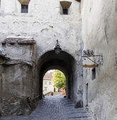 Street of medieval town — Stock Photo