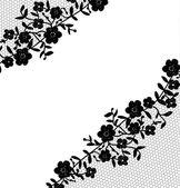 Lace fabric background — ストックベクタ
