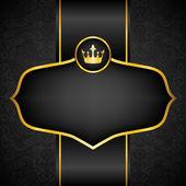 Royal black background — Stock Vector