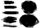 Set of artistic brush — Vecteur