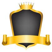 Kroon en lint — Stockvector