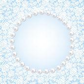 Lace floral frame — Stockvector