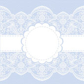Lace floral frame — Stock Vector