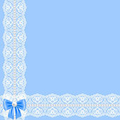 Card with lace ribbon — Stockvector