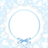 Card with lace ribbon — Stock Vector