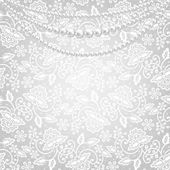 Lace fabric background — Stock Vector