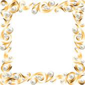 Golden jewelry frame — Stock Vector