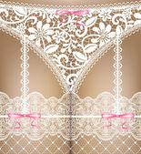 Vit spets underkläder — Stockvektor