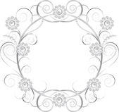 Jewelry floral frame — Vector de stock