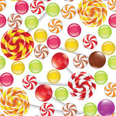 Candies seamless background — Stock Vector