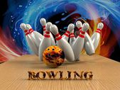 Bowling  Game Strike rot — Foto Stock