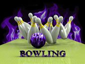 Bowling  Game Strike rot — Stock Photo