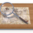 Map through a magnifying glass — Stock Photo #49438189