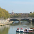 Stock Photo: Embankment in Roma