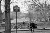 Loving couple in Paris — ストック写真