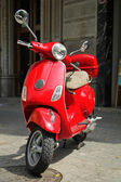 Red scooter — Stockfoto