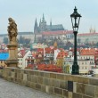 View from Charles bridge, Prague — Stock Photo