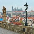 View from Charles bridge, Prague — Stockfoto