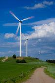 Turbiny wiatrowe wiatrowe — Zdjęcie stockowe