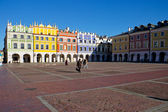 The main market square in the old town of Zamosc — Stock Photo