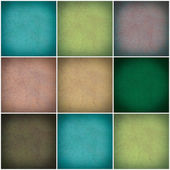Sada různých barevné zdi koláž — Stock fotografie
