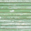 Old green painted wood wall - texture or background  — Stock Photo