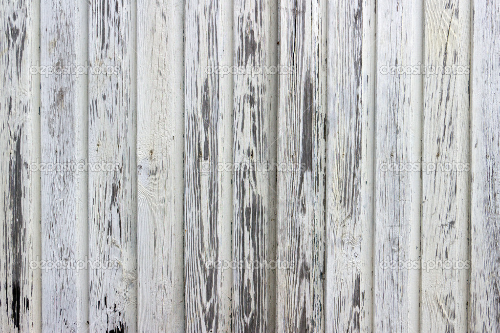 White Wood Wall : Old white painted wood wall - texture or background — Stock Photo ...