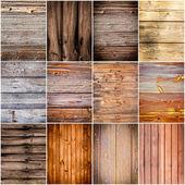 Collectie van hout textuur achtergronden — Stockfoto